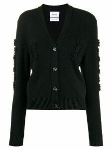 Barrie textured detail cardigan - Black