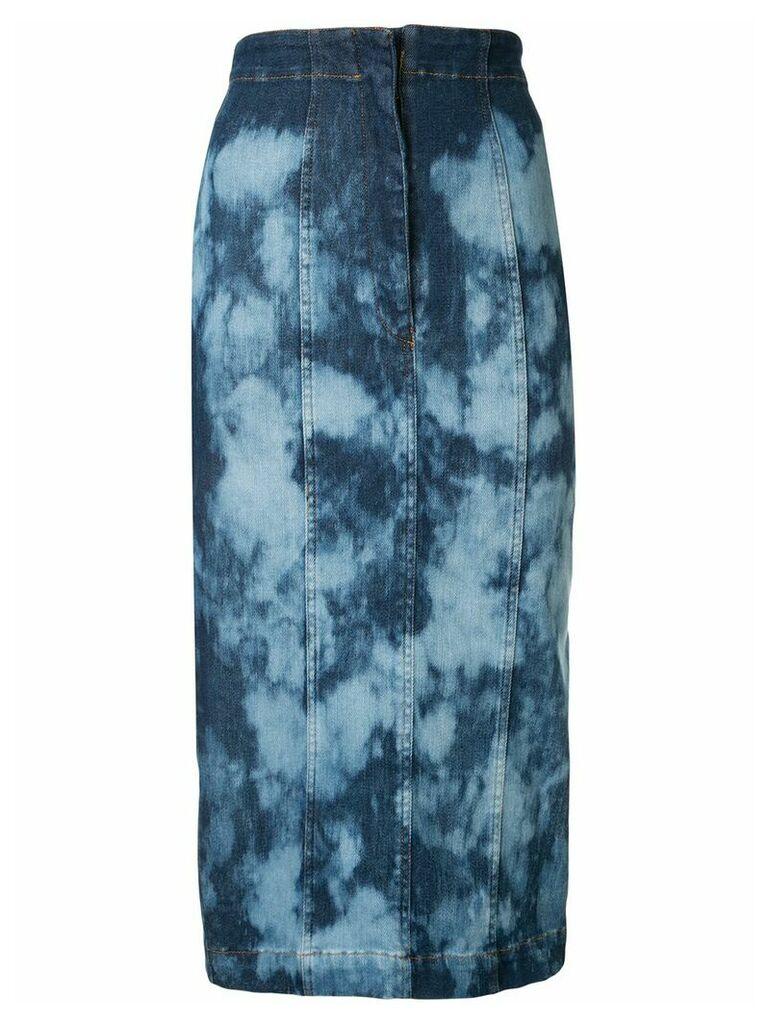 Manning Cartell tie-dye denim skirt - Blue
