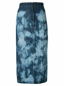 Manning Cartell tie-dye denim skirt - Blue