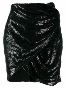 Iro draped mini skirt - Black