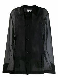 MAISON MARGIELA Organdie oversized blazer - Black