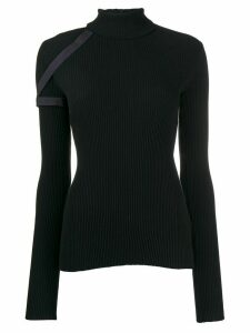Helmut Lang harness roll neck sweater - Blue