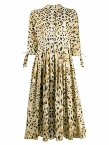 Prada leopard print shirt dress - Neutrals