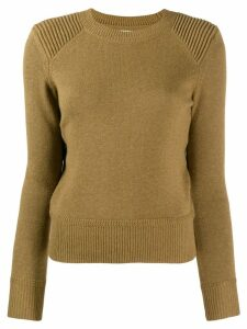 Isabel Marant Étoile fitted crew neck sweater - Green