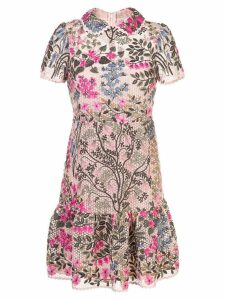 Red Valentino RED Valentino floral vines embroidered dress - Pink