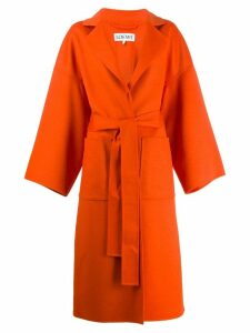 Loewe belted trench coat - ORANGE