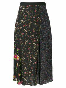 McQ Alexander McQueen panelled floral skirt - Black