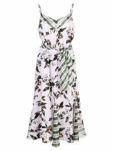 Diane von Furstenberg floral and check dress - Purple
