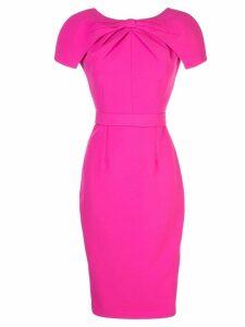 Safiyaa London fitted midi dress - Pink