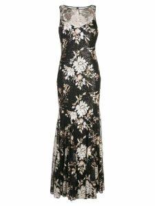 Badgley Mischka sequinned empire line dress - Black