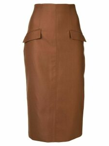 Manning Cartell midi pencil skirt - Brown