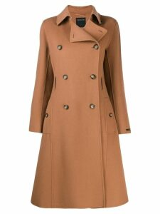 Sportmax Code double-breasted coat - Brown