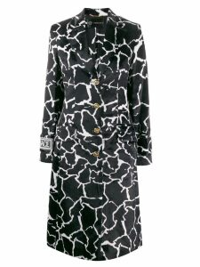 Versace marble effect printed coat - Black