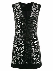 Pinko mirror appliqué dress - Black