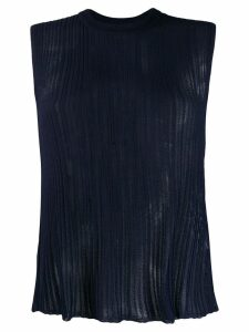 Vince pleated knitted top - Blue