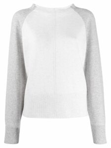 Vince two-tone cashmere sweater - Neutrals