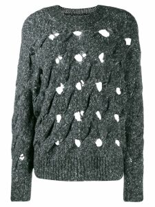 Isabel Marant Étoile distressed oversized knitted sweater - Grey