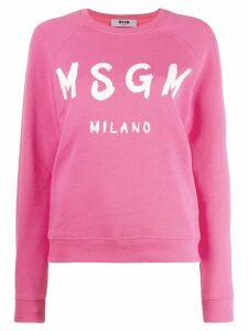 MSGM logo print jumper - Pink
