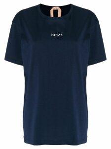Nº21 logo print oversized T-shirt - Blue