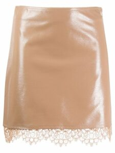 Pinko layered lace hem skirt - Neutrals