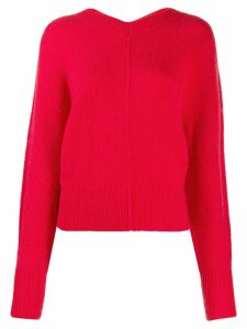 Isabel Marant oversized knitted sweater - Red
