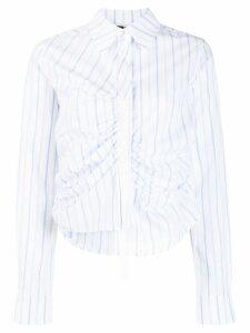 McQ Alexander McQueen ruched shirt - Blue