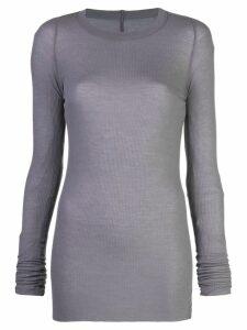 Rick Owens sheer longline knitted top - Grey