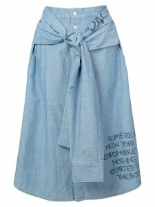 Haculla Responsible For Nothing hybrid skirt - Blue