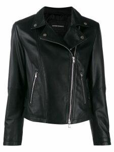 Emporio Armani classic biker jacket - Black