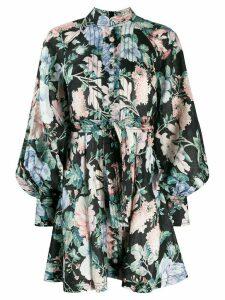 Zimmermann mandarin floral dress - Black