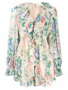 Zimmermann floral print dress - Neutrals
