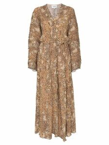 Nanushka snake-print maxi dress - Brown