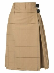 Macgraw Commentary kilted skirt - Brown