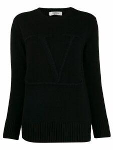 Valentino V embroidered sweater - Black