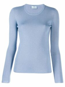 Prada crew neck knitted top - Blue