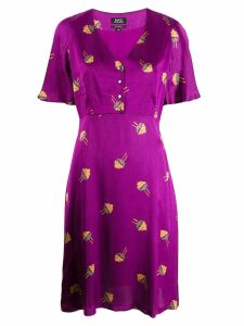 A.P.C. Lavinia dress - Purple