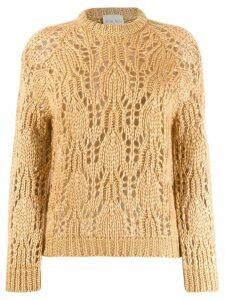 Forte Forte crochet knit jumper - Neutrals