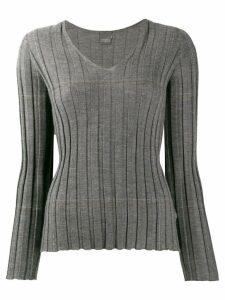 Lorena Antoniazzi v-neck cashmere sweater - Grey