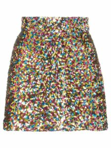 Attico sequin-embellished mini skirt - 021 Multicoloured