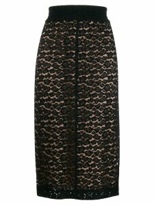 Nº21 lace pencil skirt - Black