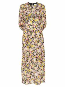 Les Reveries Psychedelic Meadow floral print midi dress - Multicolour
