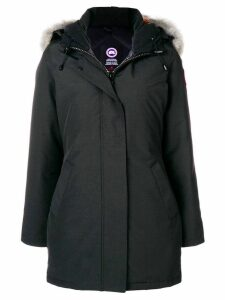 Canada Goose hooded fitted coat - Black