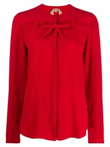 Nº21 ruffle trim blouse - Red