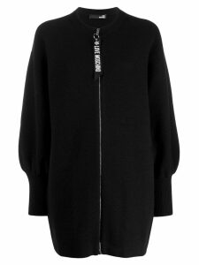 Love Moschino knitted coat - Black