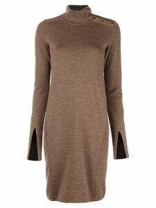 Proenza Schouler Merino Knit Long Sleeve Dress - Brown