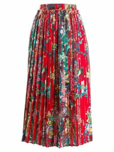 Golden Goose floral print pleated midi skirt - A3 Candy Apple Flower