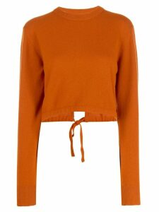 Chloé long sleeve cropped sweater - Brown