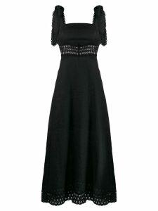 Zimmermann crochet detail long dress - Black