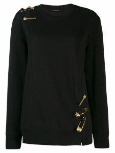Versace Medusa detailed knit jumper - Black