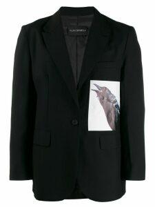 Yuiki Shimoji photographic print blazer - Black